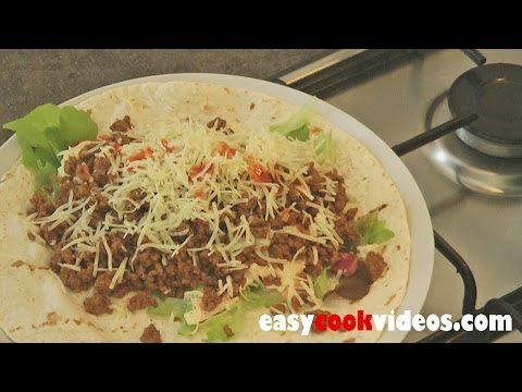Quick Meals-Easy Ground Beef Recipes-Spicy Beef Wrap