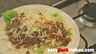 Quick Meals - Easy Ground Beef Recipes - Spicy Beef Wrap