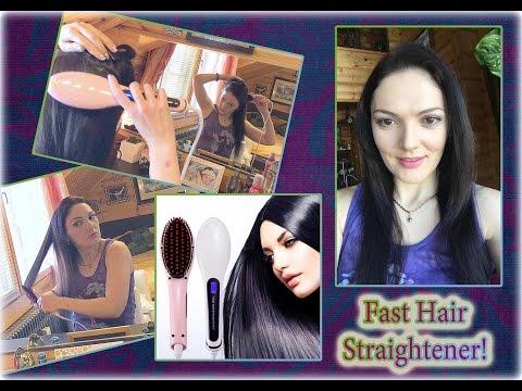 Электрическая расческа - выпрямитель Fast Hair Straightener! Обзор.