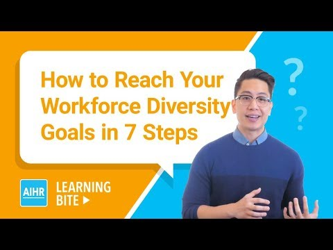 How to Reach Your Workforce Diversity Goals in 7 Steps | AIHR Learning Bite