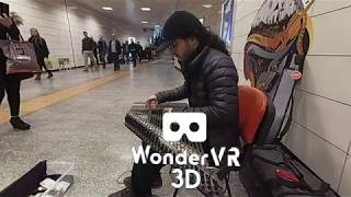 VR180 Street Musician Playing the Cither MP3