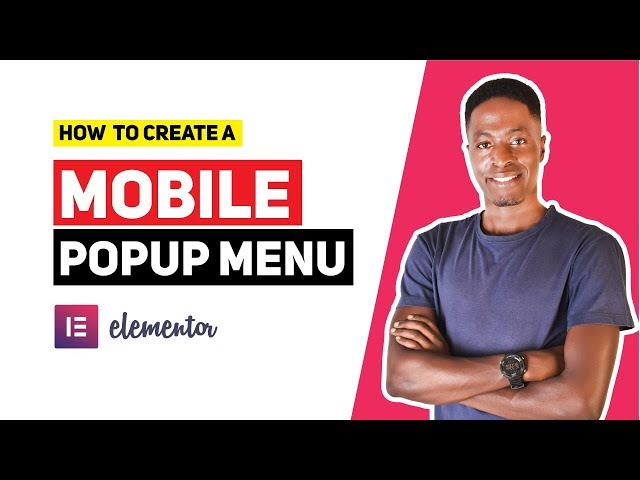 How To Make a Mobile Popup Menu with Elementor Pro