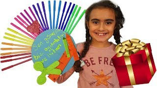 Mira için Öğretmenler Günü Hediyesi Yaptım | learn colors with finger family song | UmiKids