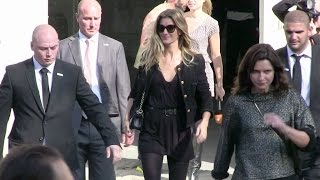 Supermodel Gisele Bundchen attend the Chanel Fashion Show in Paris