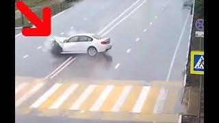 Мистически Шокирующее Видео Машина Врезается В Невидимое..............