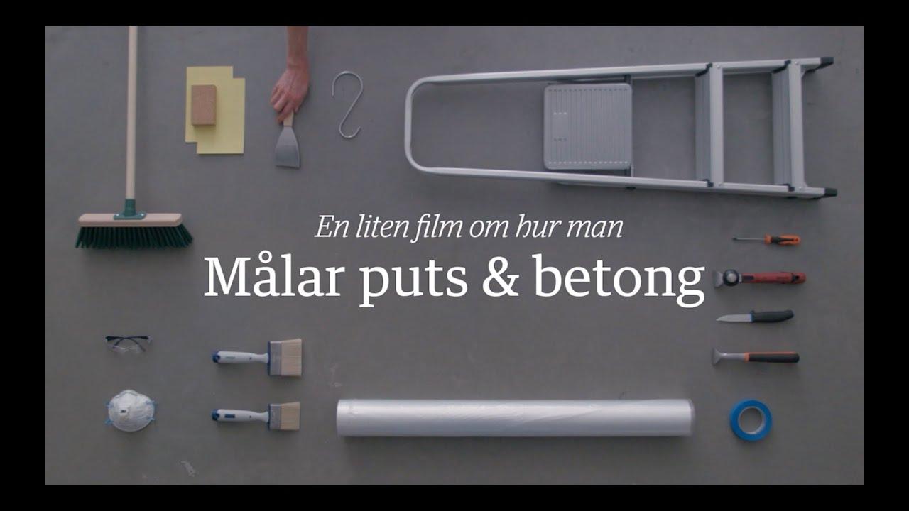 Prima Måla puts och betong – Hur gör man? - Beckers Färg - YouTube WL-03