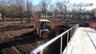 В Комсомольском парке завершается строительство фонтана