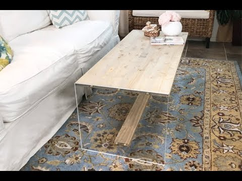 DIY Acrylic Wood Coffee Table