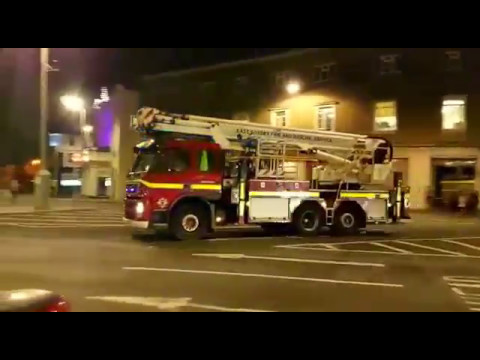 Ausrücken der Feuerwehr Brighton East Sussex