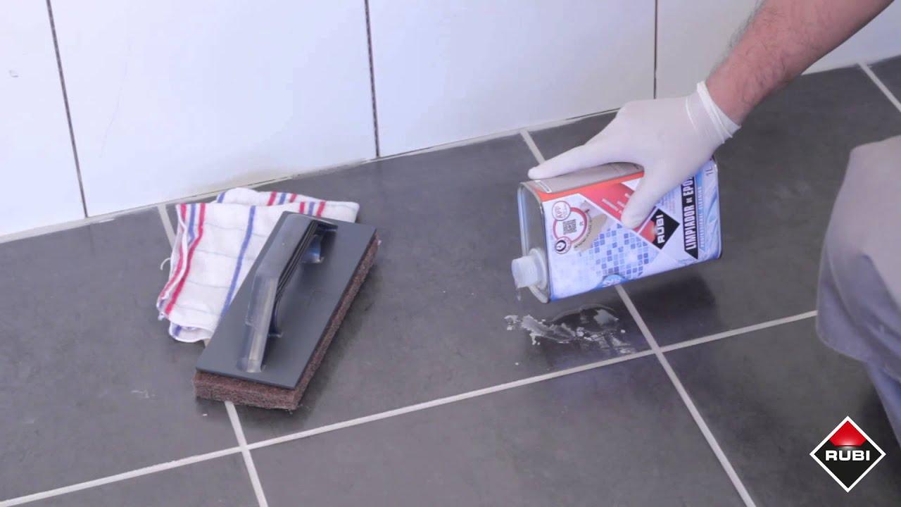 Como limpiar restos de junta rubi rc 42 limpiador de - Como pintar las juntas del piso ...