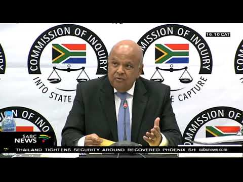 Gordhan wraps Day 1 of his appearance at the State Capture Inquiry