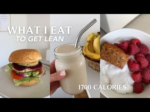 WHAT I EAT IN A DAY TO GET LEAN | + I tracked my meals for the day? macros?