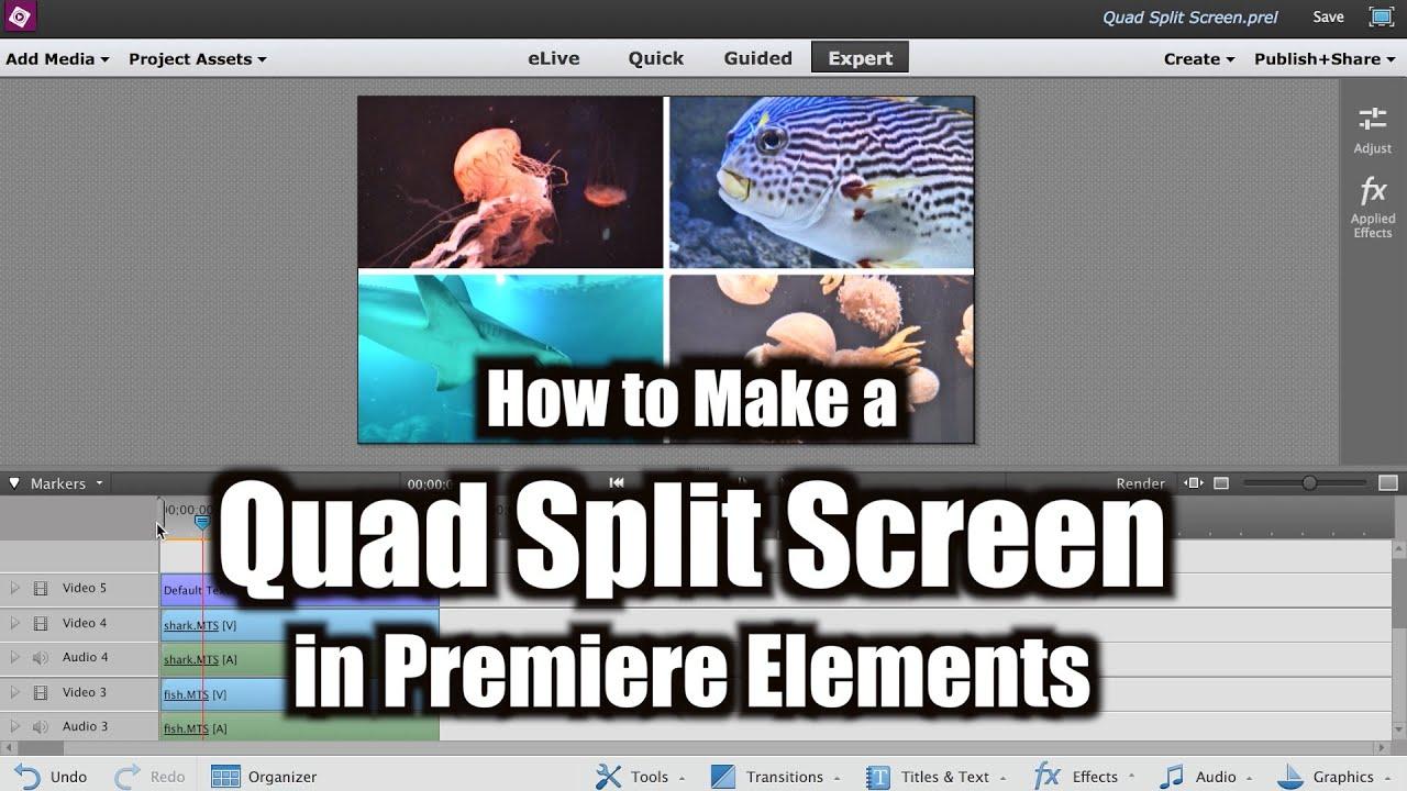how to make a quad split screen adobe premiere elements training 10 videolane com youtube. Black Bedroom Furniture Sets. Home Design Ideas