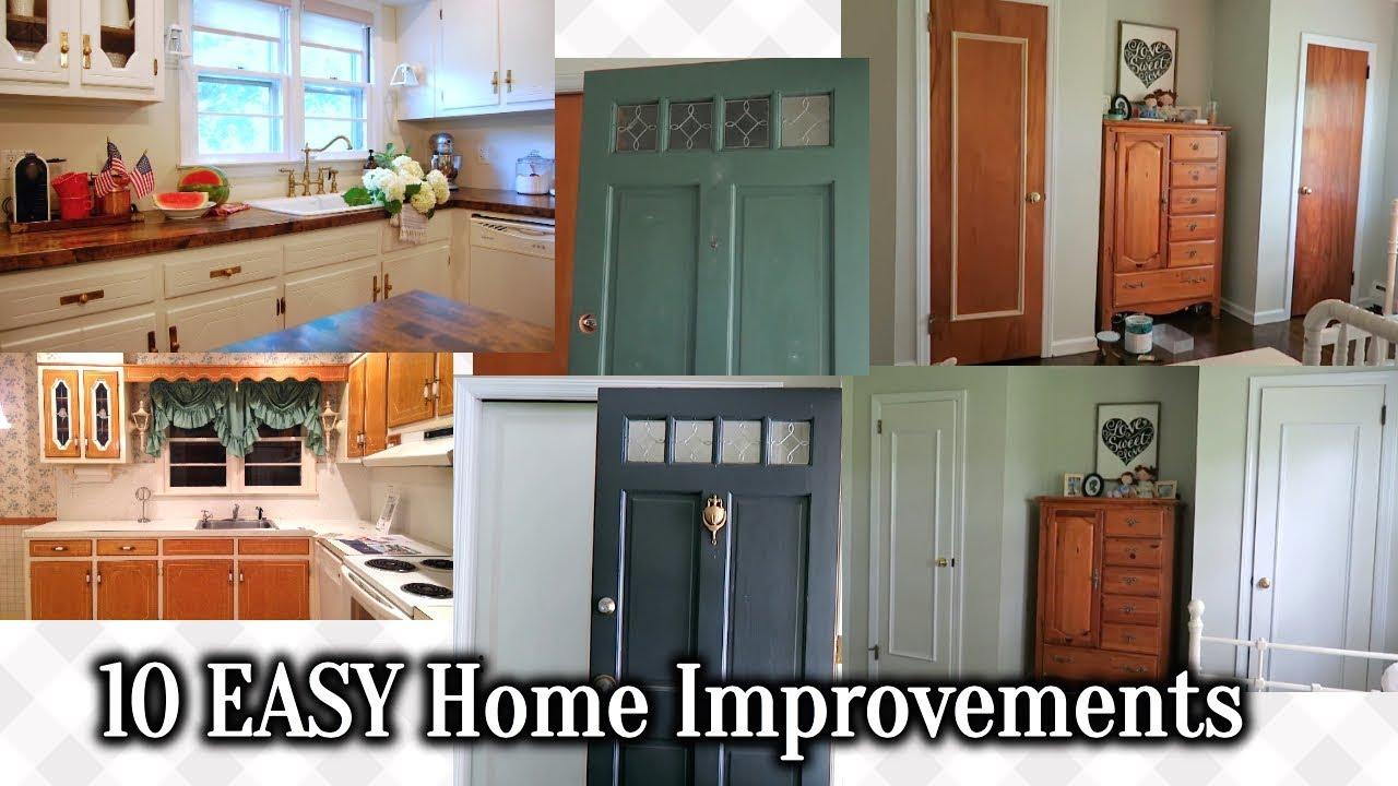 10 Easy Inexpensive Home Improvements Youtube