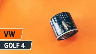 Ako a kedy meniť Olejový filter VW GOLF IV (1J1): video sprievodca