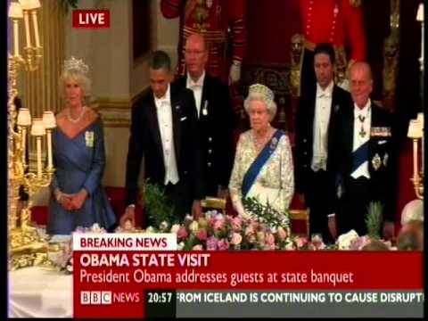Thumbnail: Queen humiliates President Obama at Buckingham Palace by refusing toast - May 24 2011