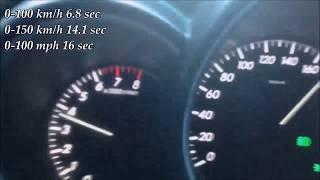 0-180 km/h acceleration 2007 Lexus RX 350 V6 272 Hp