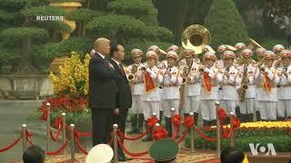 Lễ đón Tổng thống Trump tại Phủ Chủ tịch