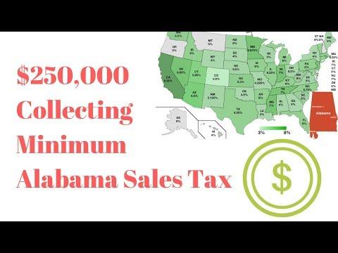 Sales Tax Update For Ebay & Amazon Sellers. ALABAMA $250,000 Threshold