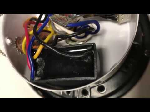 Ceiling fan repair: how to replace a motor capacitor on