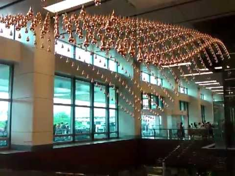 Creative Water Feature at Terminal 1, Changi Airport