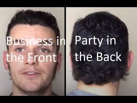 How to Cut a Mullet on yourself  Men's Self Haircut Tutorial