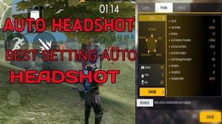 💥BEST SETTING AUTO & EASY HEADSHOT💥 #FREEFIRE AUTO HEADSHOT💥
