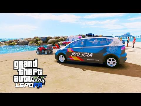 LSPDFR |Día 207 | Policia Nacional - Persona herida en la playa