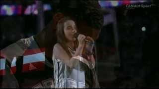 Julia Dale Singing the National Anthem - 2014 NBA Final
