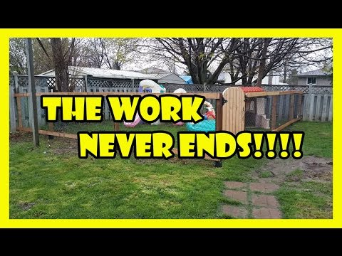 How To Build a Fence Out of Wood and Chain link!