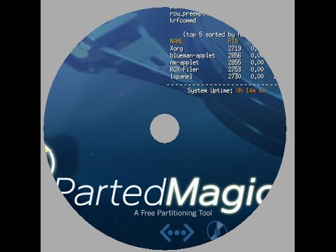 How to create Parted Magic liveCD liveDVD