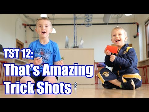 Trick Shot Titus 12 | Thats Amazing Trick Shots (Bottle Flips, Dice Stacking, Basketball, Soccer)