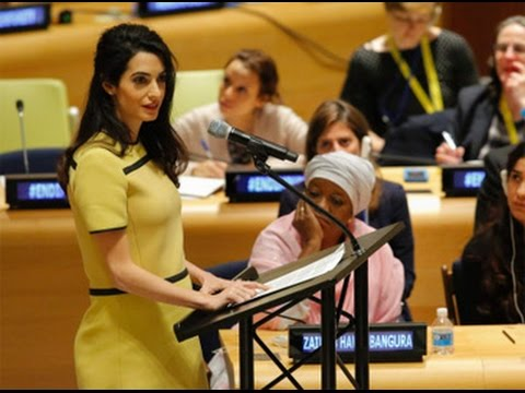 Amal Clooney calls for action against ISIS at the UN