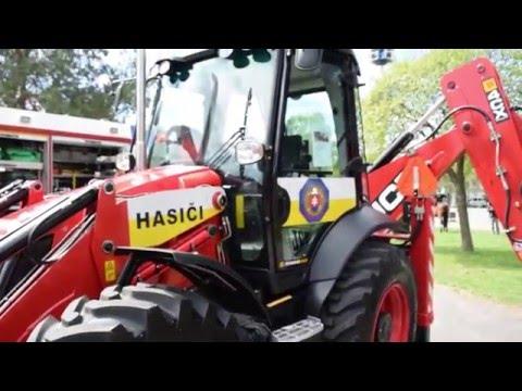 """JCB 4CX backhoe """"Slovak firefighters version"""""""