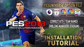 PES Universe Option File Installation Tutorial