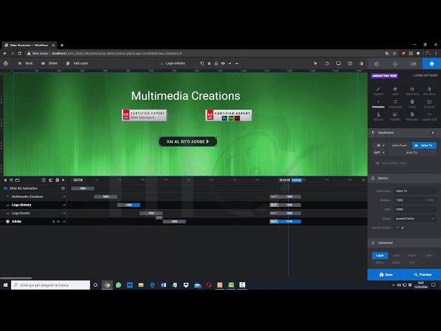 Slider Revolution 6 - Gestire le tempistiche delle animazioni