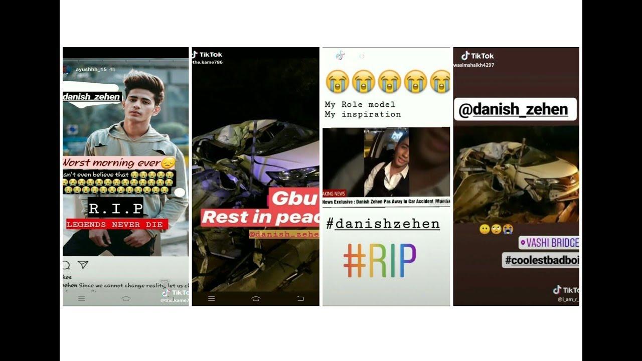 Danish Zehen Is Death Last Video Of Danish Zehen His Fans