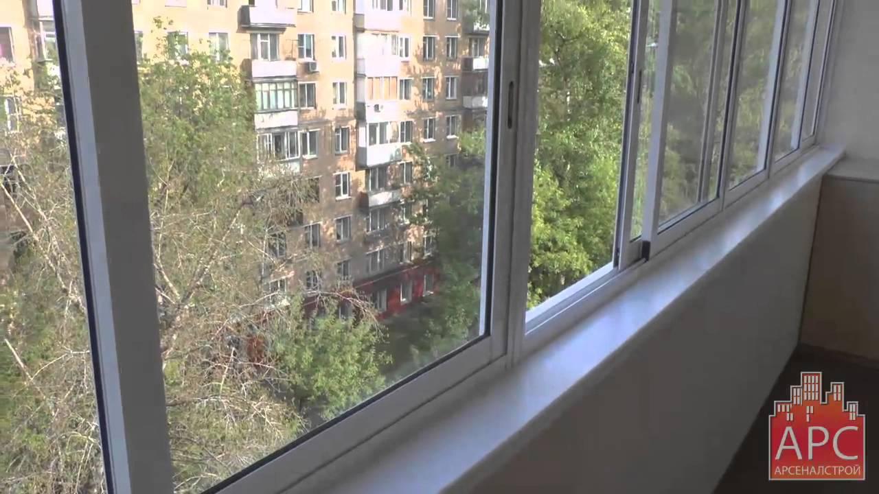 Пример капитального ремонта 6 метрового балкона от арсеналст.