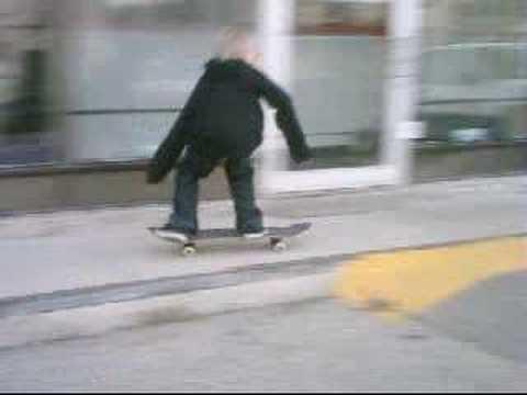 Mike Adams skating in the neighborhood