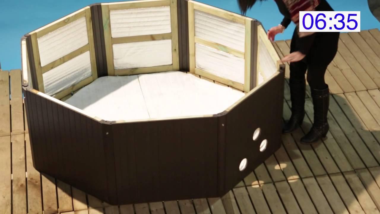 Muskoka portable spa assembly youtube - Spa semi rigide ...