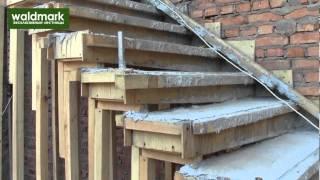 Бетонная лестница консольная в опалубке. Concrete stairs