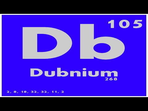 Study guide 105 dubnium periodic table of elements for 105 periodic table