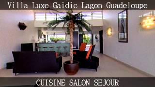 Villa Gaidic en front de mer en Guadeloupe, le luxe les pieds dans l'eau avec Spa