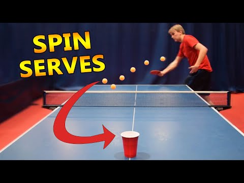 Table Tennis Spin Serves I Challenge Pongfinity Ep. 11