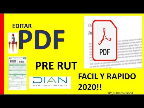 cómo-editar-gratis-💻-un-pdf-ejemplo:-pre-rut-virtual-2020-🚀-superrapido-!!!
