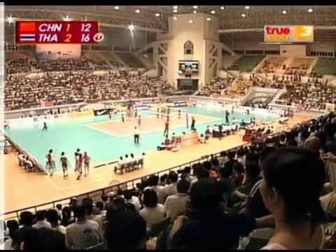 set 4/4 : Thailand Beats China-Final  15th Asian Women's Volleyball Championship 2009