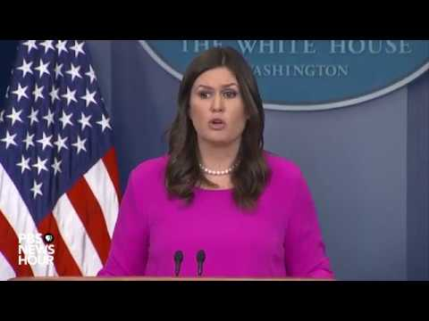 WATCH: Sarah Sanders, H.R. McMaster, Gary Cohn hold White House news briefing