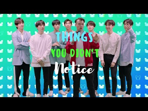 things you didn't notice in the BTS RDMA this or that interview