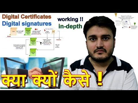 What is a digital certificate and digital signature ? Working and all explained