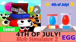 Baixar 4TH OF JULY! Blob Simulator 2 Roblox | THE NEW PARTRIABLOB | NEW egg PET